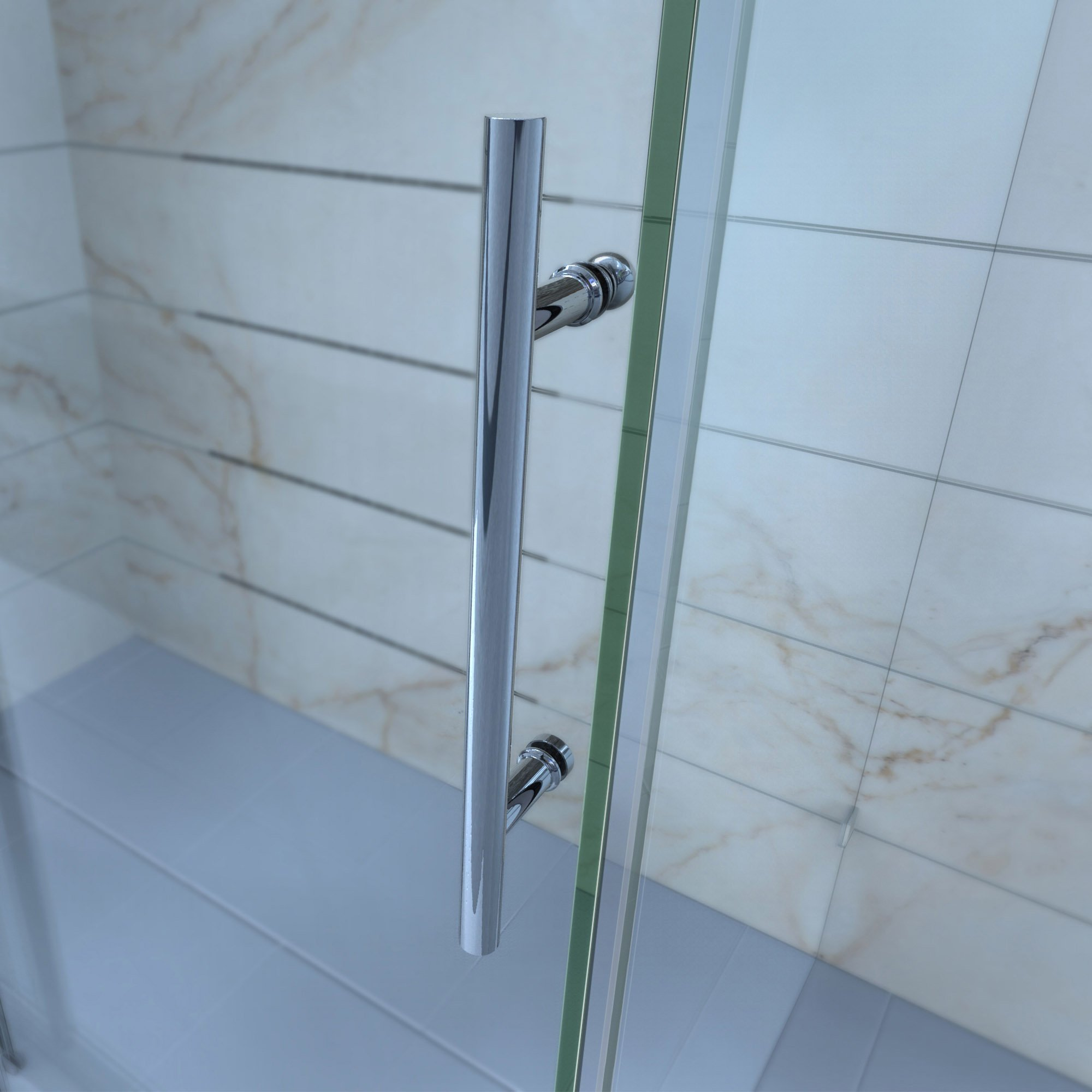 DreamLine Enigma-X 55-59 in. W x 62 in. H Fully Frameless Sliding Tub Door in Polished Stainless Steel, SHDR-61606210-08 by DreamLine (Image #11)