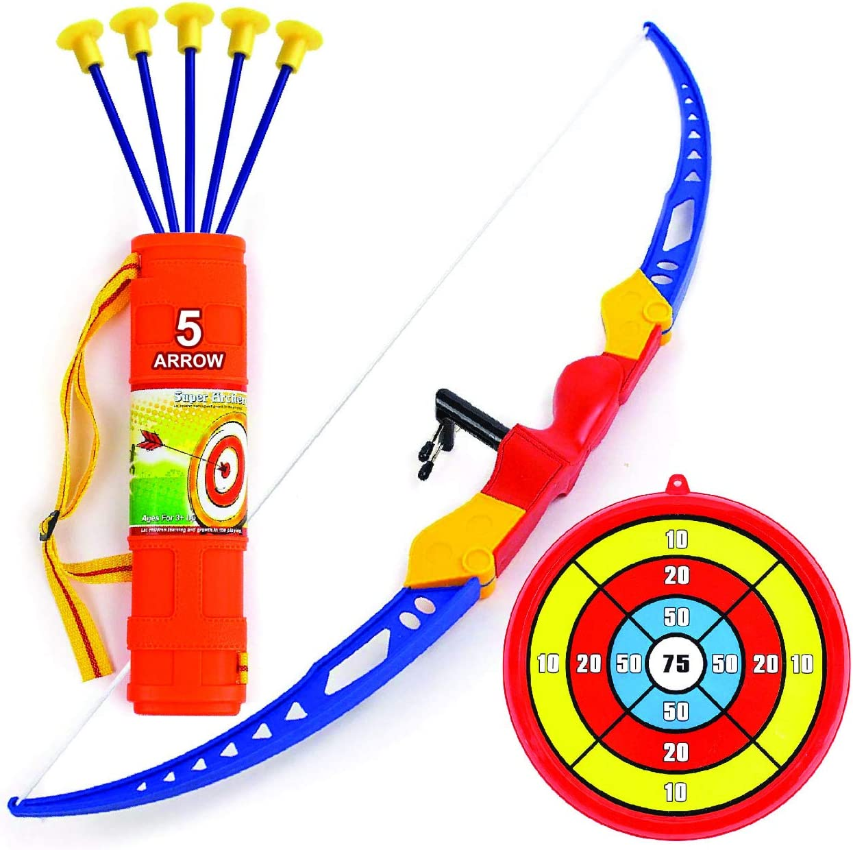 Amazon Com Toysery Bow And Arrow Set For Kids Archery Toy With Recurve Bow With 5 Suction Cup Arrows Target Stand And Quiver Hunting Practice Safe Outdoor Play Toys For Children Most arrows are able to be used to trade and have different values. toysery bow and arrow set for kids archery toy with recurve bow with 5 suction cup arrows target stand and quiver hunting practice safe outdoor