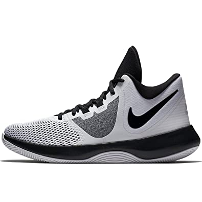 uk availability a7972 0c0a6 Nike Men s White Black Synthetic Air Precision Ii Shoes 14  Buy Online at  Low Prices in India - Amazon.in