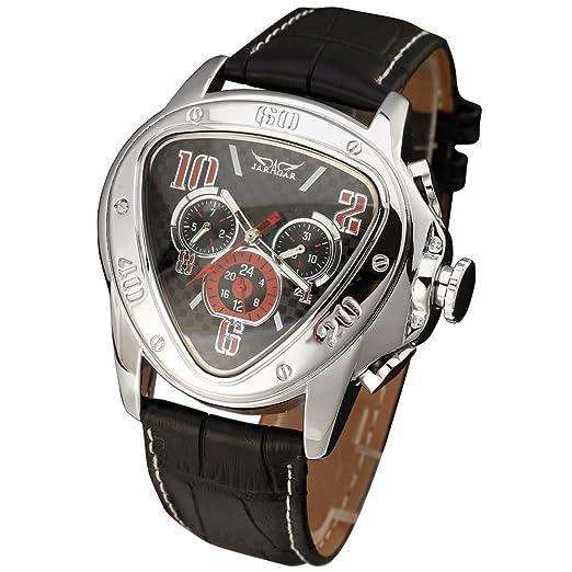 JARAGAR Top marca de lujo reloj Hombre automático mecánico hombres reloj relojes Fashion piel hombres reloj de pulsera Relogio Masculino: Amazon.es: Relojes