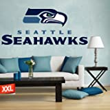 "Full color Seattle Seahawks decal, Seattle Seahawks decal, Seattle Seahawks logo decal, Seattle Seahawks, Seahawks decal, Seahawks decal, Seahawks sticker, Seahawks large decal pf20 (9"" x 22"")"