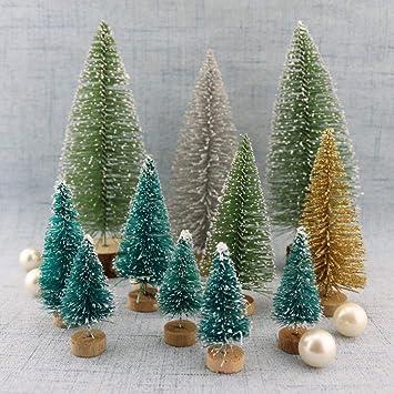 Diy Weihnachtsbaum.Hemore 12st Diy Weihnachtsbaum Kleine Kiefer Mini Bäume