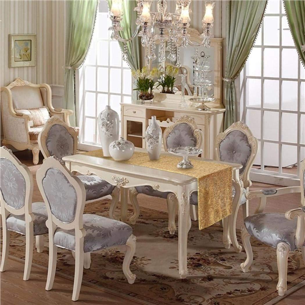 lazinem Wedding Table Cloth Glitter Sequin Tablecloth Party Engagement Decoration Tablecloths