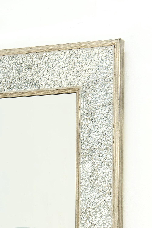 Großer Wandspiegel Mosaik Rahmen silber Crackle abgeschrägten 3 FT7 ...