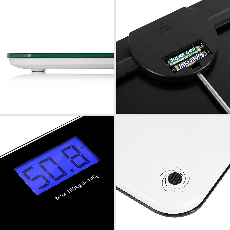 Duronic BS601 Báscula de Baño Digital de Alta Precisión Peso Corporal hasta 180 kg, Cristal Templado: Amazon.es: Salud y cuidado personal