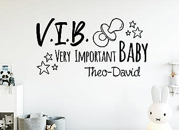 TjapaloR S Pkm349 Wandtattoo Kinderzimmer Baby Junge Babyzimmer Madchen VIB Mit Namen B58