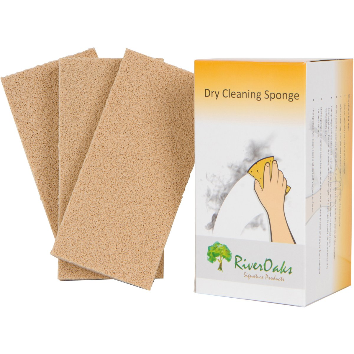 Dry Cleaning Soot Remover Sponge - (3-Pack) for Smoke, Soot, Dust and Dirt Removal