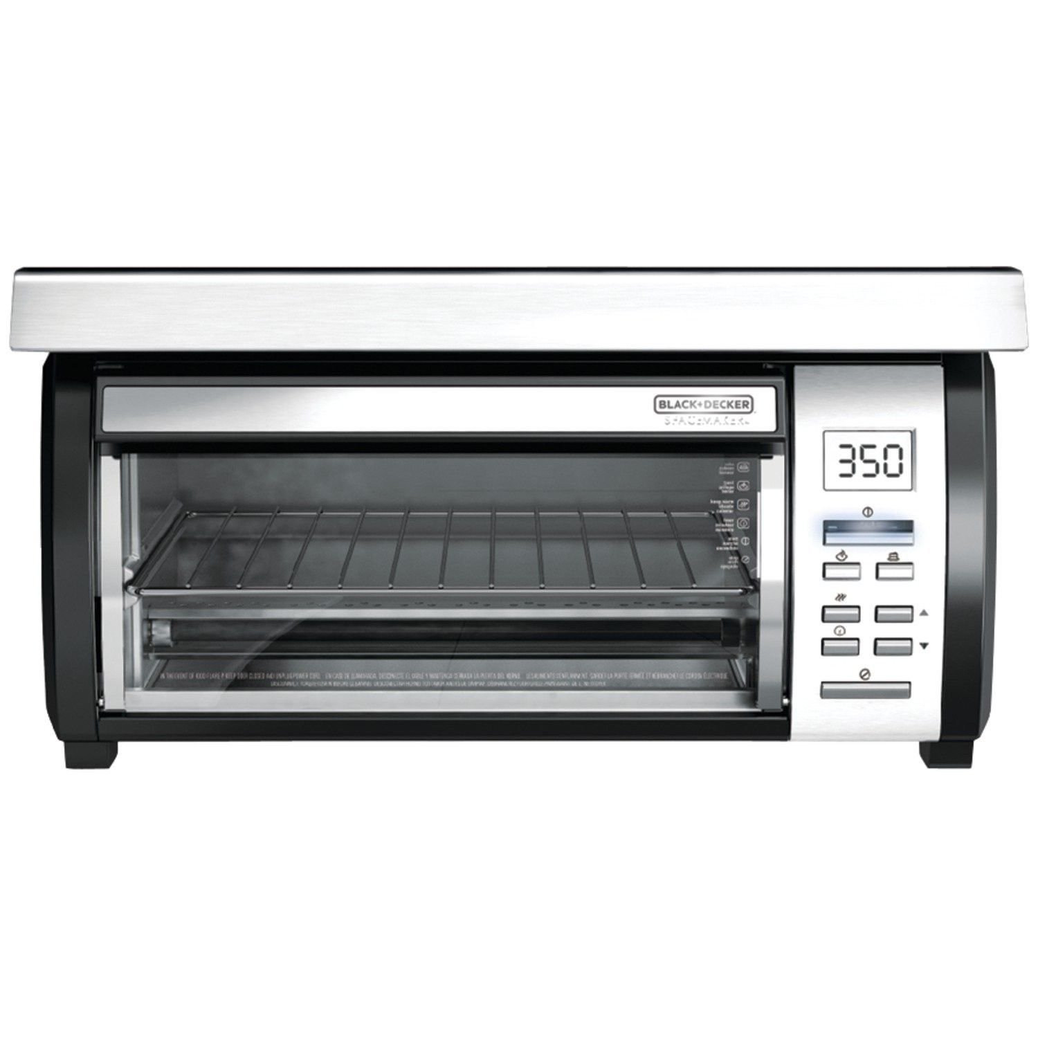 (Ship from USA) BLACK+DECKER TROS1000D Space Maker Digital Toaster Oven Stainless Steel/Black /ITEM NO#8Y-IFW81854291068
