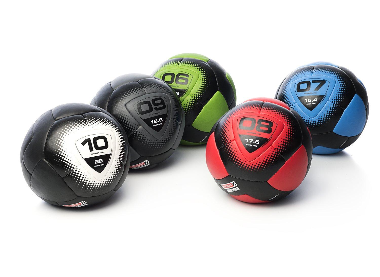 ESCAPE Vertmini-Mini Gymnastikball Fitnessball Gewichtsball für Groupfitness-7kg Medizinball, schwarz Blau, 7kg