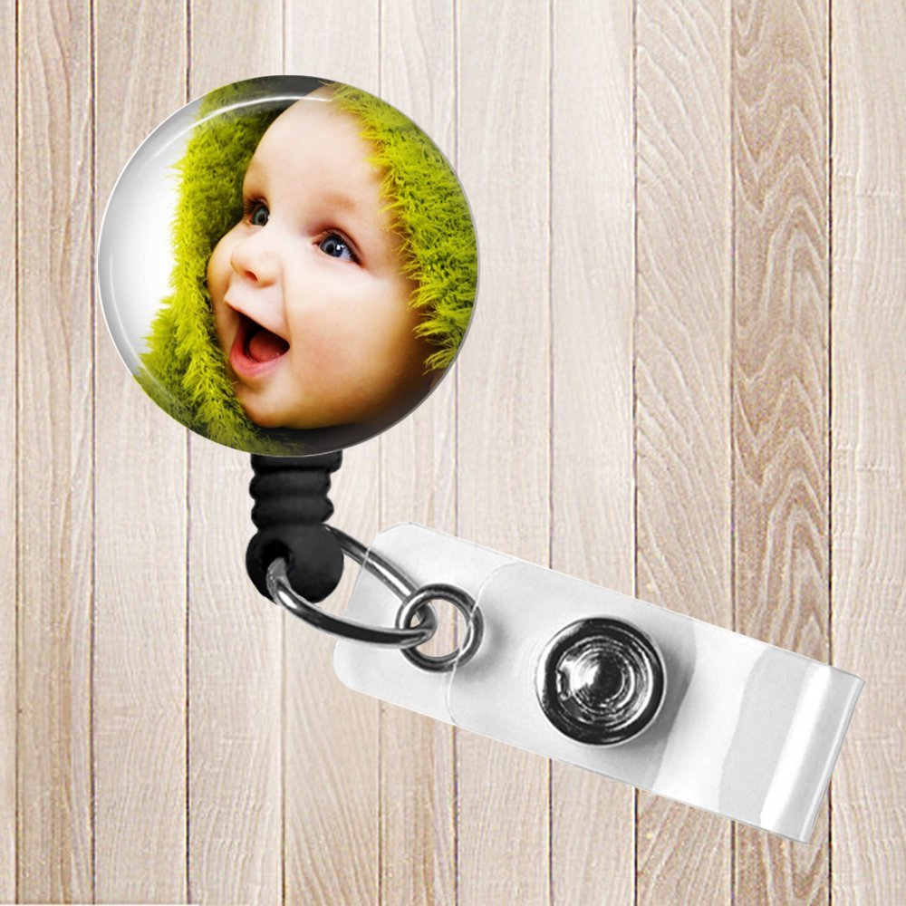 Your Photo Personalized Retractable Badge Reel ID Holder