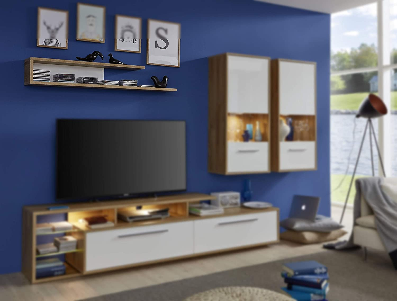 Trendteam Mueble, Cuerpo frontal, Korpus, Blanco brillante, 170 x 85 x 181 cm: Amazon.es: Hogar