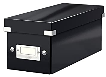 Leitz Caja para guardar CD, Negro, Click and Store, 60410095: Amazon.es: Oficina y papelería