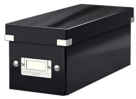 Leitz boîte de rangement pour cd noir click store