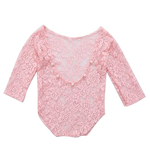 a820ef8b9 Image Unavailable. Image not available for. Color: cici store Baby Girl  Lace Romper Bodysuit Photography Photo Props Outfit Costume Clothes