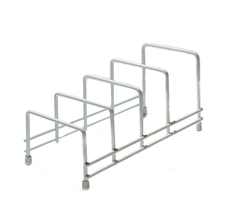 Delfinware Plate Storage Rack, White 2625W