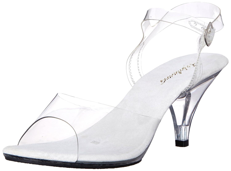 Women's Belle Clear Low-Heel Dress Sandals - DeluxeAdultCostumes.com