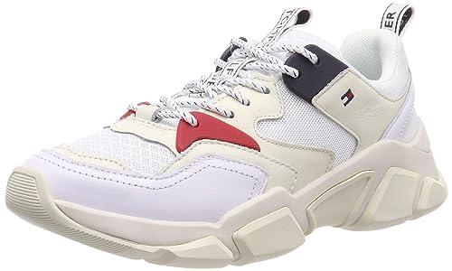Tommy Hilfiger Wmn Chunky Mixed Textile Trainer, Zapatillas para Mujer: Amazon.es: Zapatos y complementos