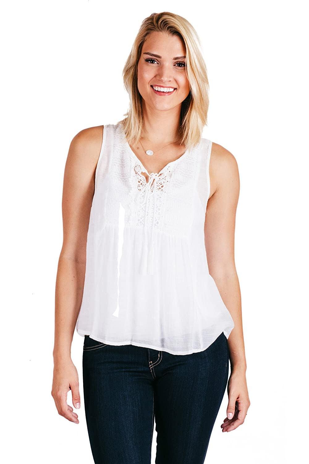 Flying Tomato Meet Me In Florence Top White