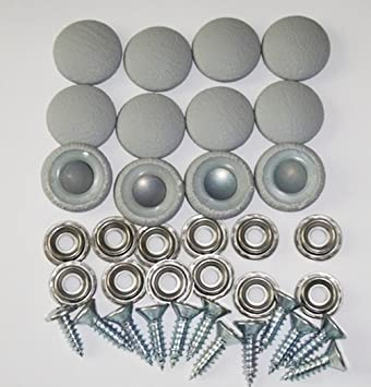 Amazon Com Set Of 12 Dura Snap Upholstery Buttons 30 Platinum Gray