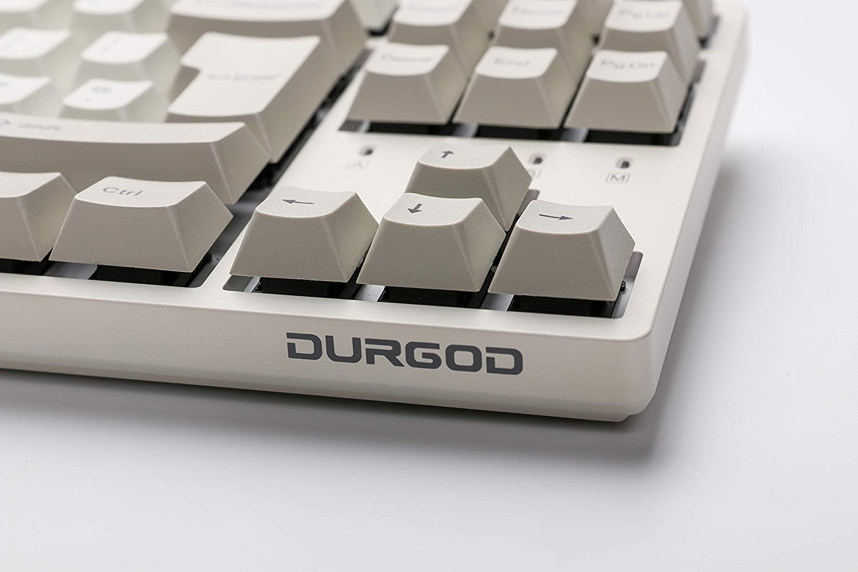 Dye Sub PBT 88 tasti Durgod Taurus K320 TKL USB tipo C Cherry Silent Red, Cream White NKRO ISO UK Tastiera meccanica da gioco