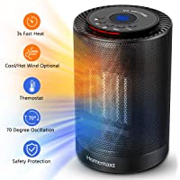 Homemaxs Ceramic Portable Oscillating Electric Space Heater with Adjustment Thermostat