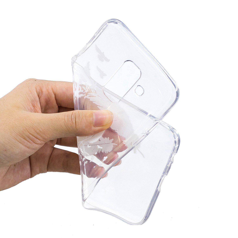 Honor 10 Lite Transparente Motif Swag Silicone Souple Etui Antichoc Mince Fine Case /Étui Housse Transparent Design pour Fille Femme Homme HopMore 3X Coques Coque pour Huawei P Smart 2019 Motif A
