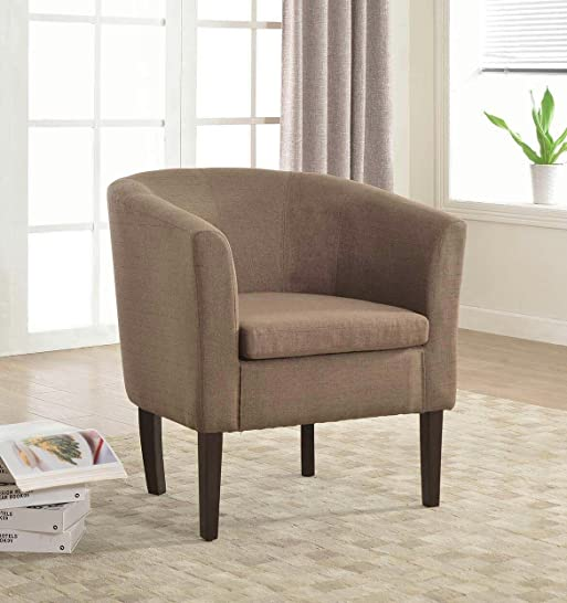 Home Life Armen Linon Brown Sofa Arm Club Chairs Linen Finish