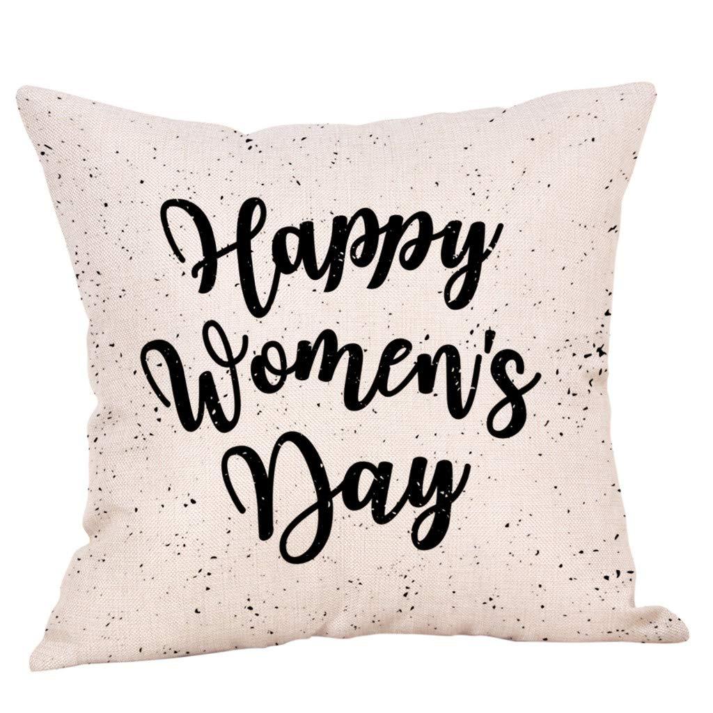 YAYUMI Simple Geometric Pattern Cotton Flax Cotton Texture Throw Pillow Cases ,Super Soft Premium Sofa Bed Car Waist Cushion Cover Home Decor