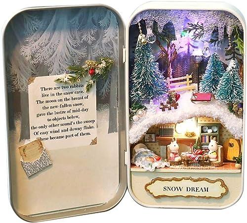 DIY Wood Box Miniature Doll House Kit Theatre Series Handcraft Birthday Gift UK