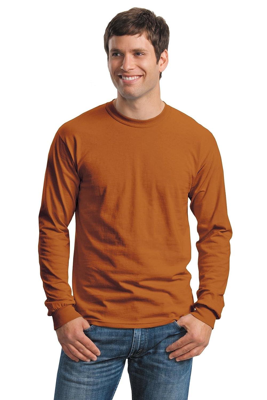G240 Long-Sleeve T-Shirt Pack of 12 Texas Orange Gildan Cotton 6 oz M