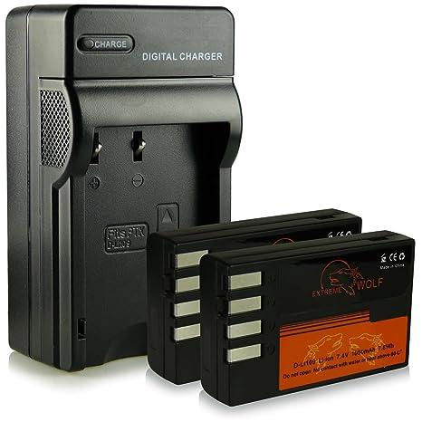 Cargador + 2x ExtremeWolf Batería D-Li109 para Pentax K-2| K ...