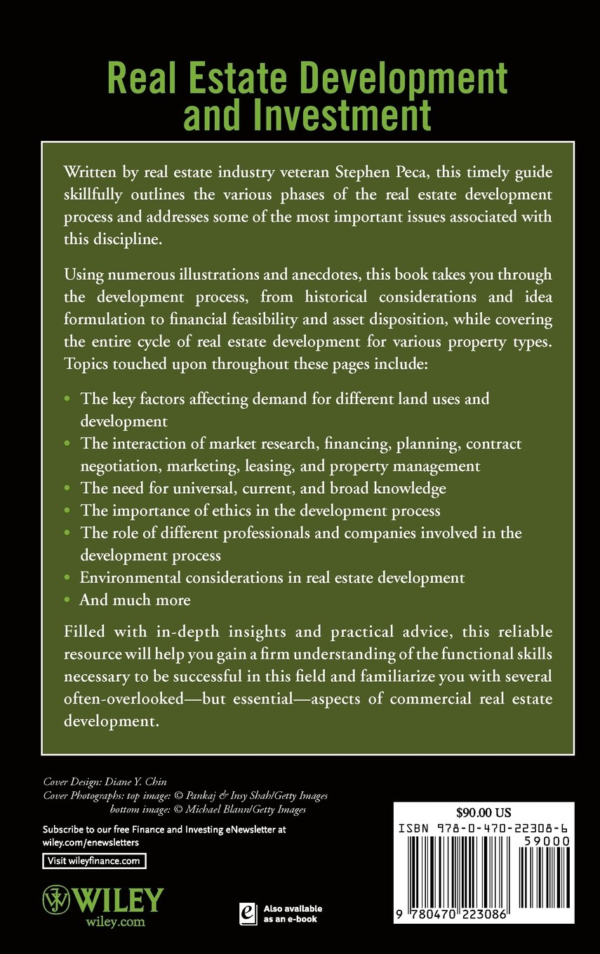 Real Estate Development and Investment: A Comprehensive Approach