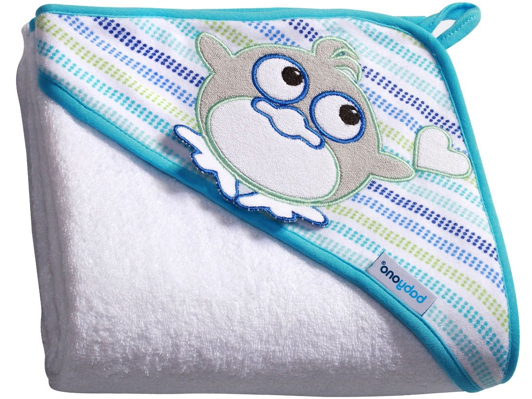 Blue//Whale Babyono Childrens Bath Towel with Hood 100x100 cm BO0002
