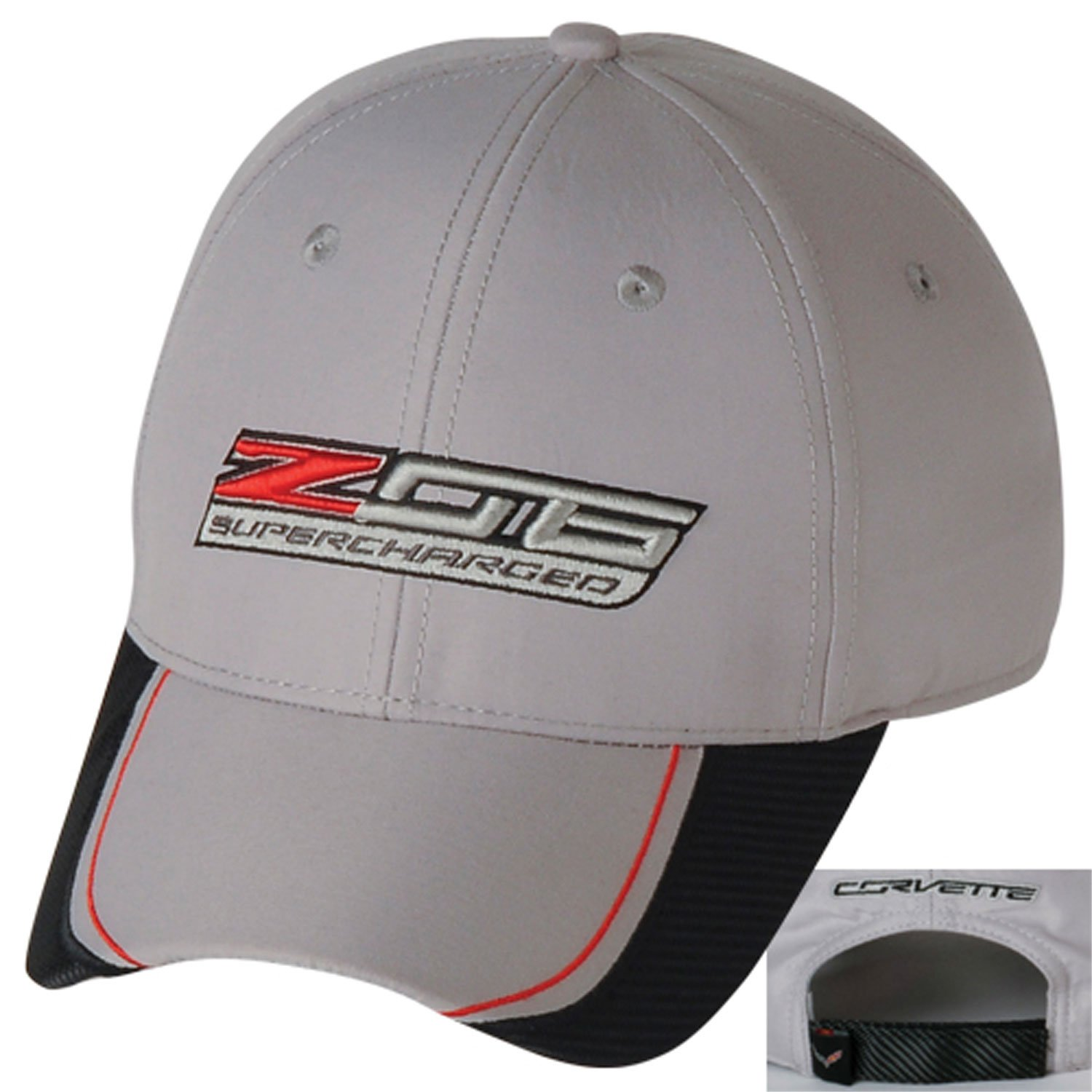 Gregs Automotive Z06 C7 Corvette Supercharged Black Logo Hat Cap Chevrolet Made in USA Bundle with Driving Style Decal