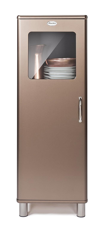 TENZO MALIBU Deluxe Designer Glass Cabinet, 143 x 50 x 41 cm, Bronze 5011-088