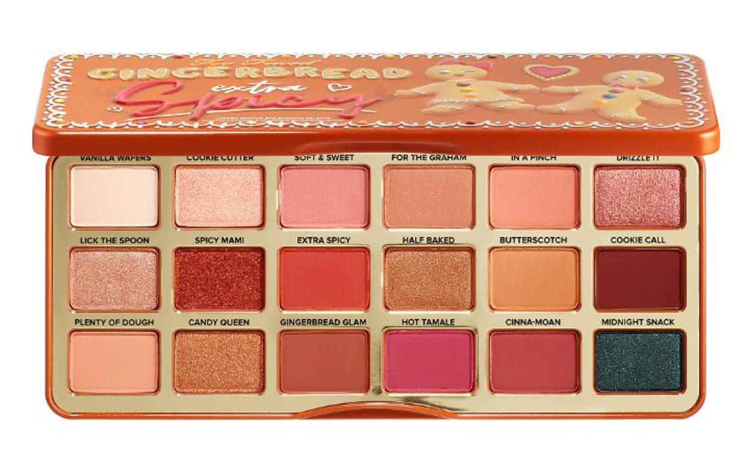 Too Faced Gingerbread Extra Spicy Eyeshadow Palette! 18 Pan Colorful Shades Eyeshadow Palette! Gingerbread Palette Highly Pigmented And Creamy Texture! Paraben-Free, Cruelty-Free And Gluten-Free! by F&T