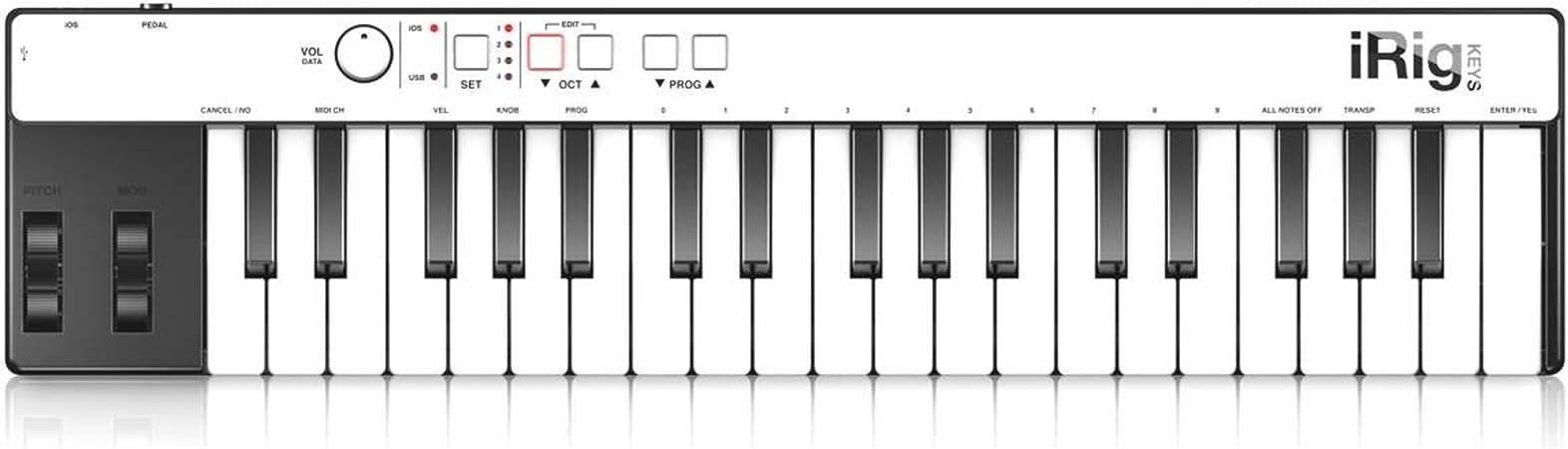 controlador Midi USB A teclado: Amazon.es: Instrumentos ...