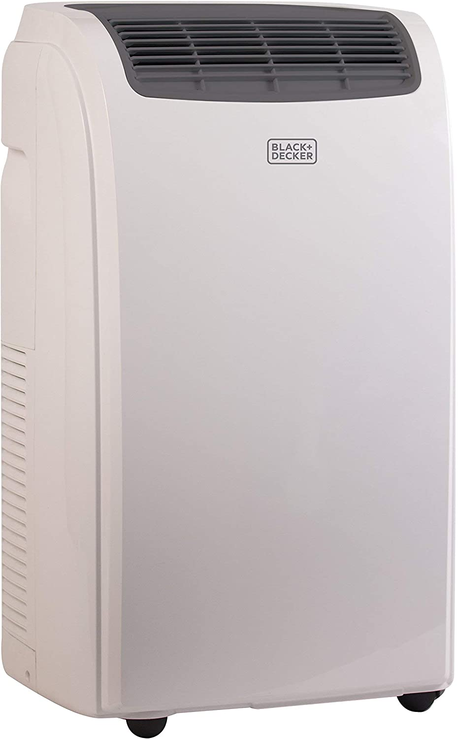 Black Decker 8000 BTU Portable Air Conditioner Unit, Remote, LED Display, Window Vent Kit, 4 Caster Wheels, White Renewed