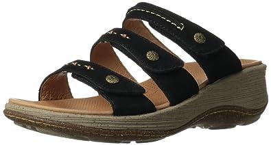 ACRON Women's Vista 3-Strap Wedge Sandal,Black,10 ...