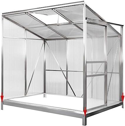 Deuba Invernadero de Pared con Base de Aluminio 3, 65m³ 192x127cm vivero Lateral huerto de Medio para Plantas Verduras: Amazon.es: Jardín