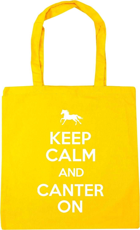 10 litres HippoWarehouse Keep Calm and Canter On Horse Riding Tote Shopping Gym Beach Bag 42cm x38cm
