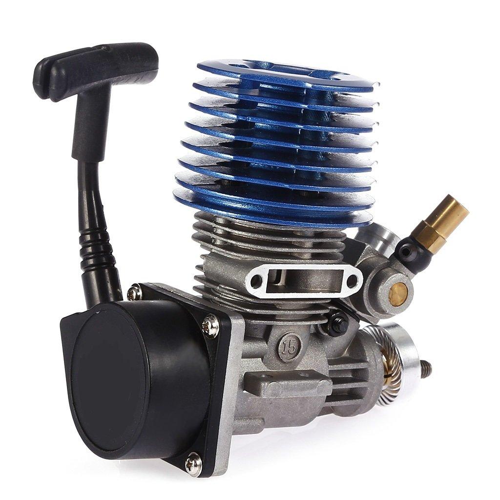 Sharplace 2.49cc 15cxp Motor de Arranque Tirón de Mano Hand Pull Starter Engine Piezas para 1: 8 1:10 1:12 RC Coche