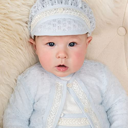 9b1882ceb Image Unavailable. Image not available for. Color: Harrison Baby Boy Blue Knit  Christening ...