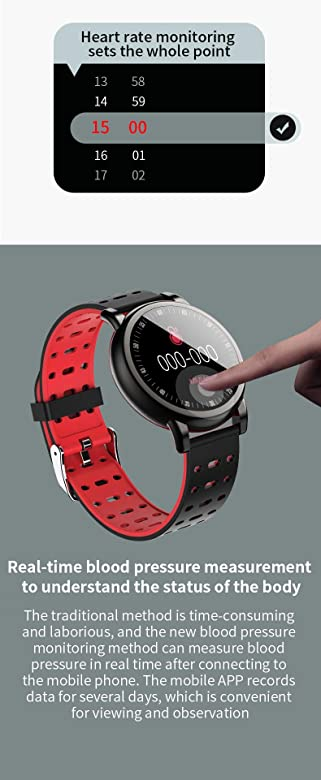 Amazon.com: WUTAN Smart Watch Men Women Waterproof Fitness ...