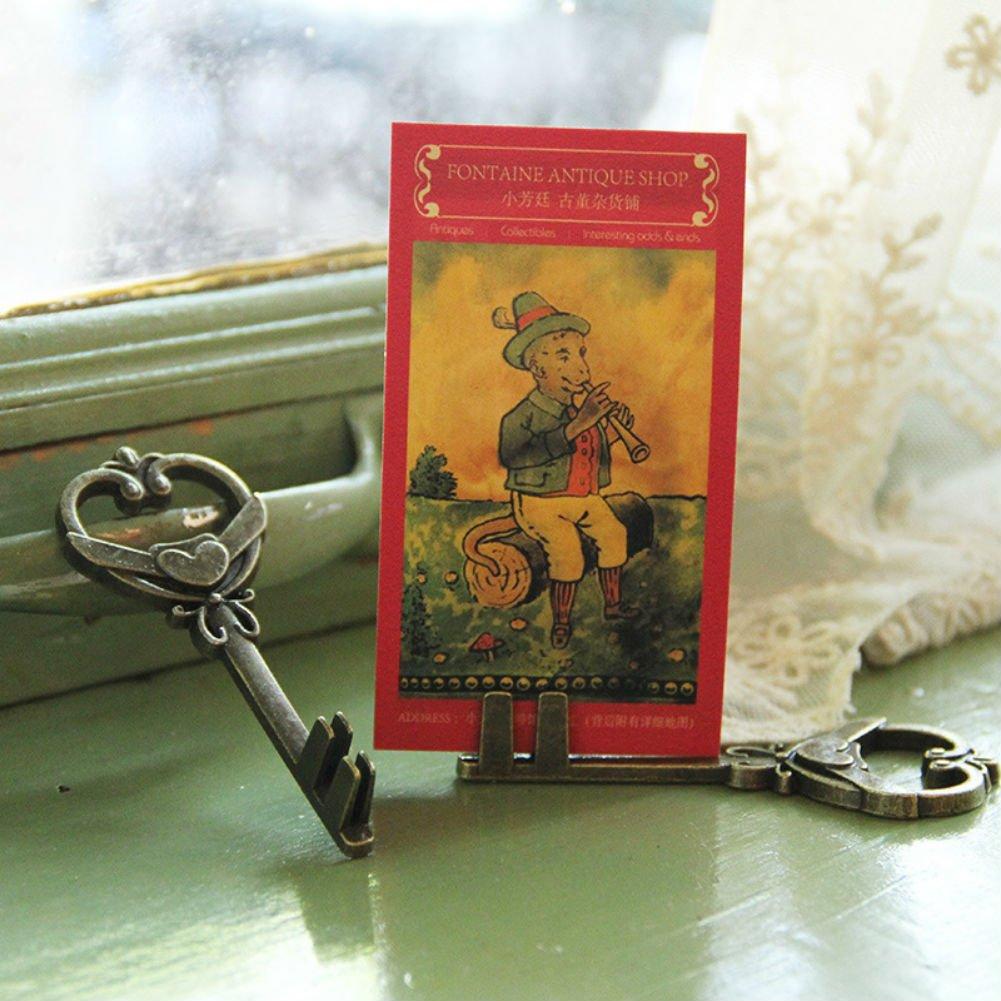 AKOAK 2 Pcs//Pack Creative Retro Key Metal Craft Memo Notes Holders Message Photo Clip Holders