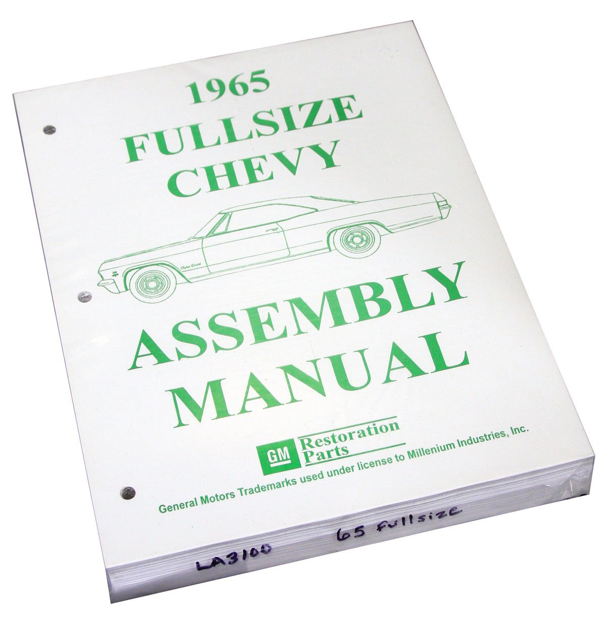 Inline Tube (I-2-14) Factory Assembly Manual for 1965 Chevrolet Full Sized Cars Bel Air, Impala and Wagons