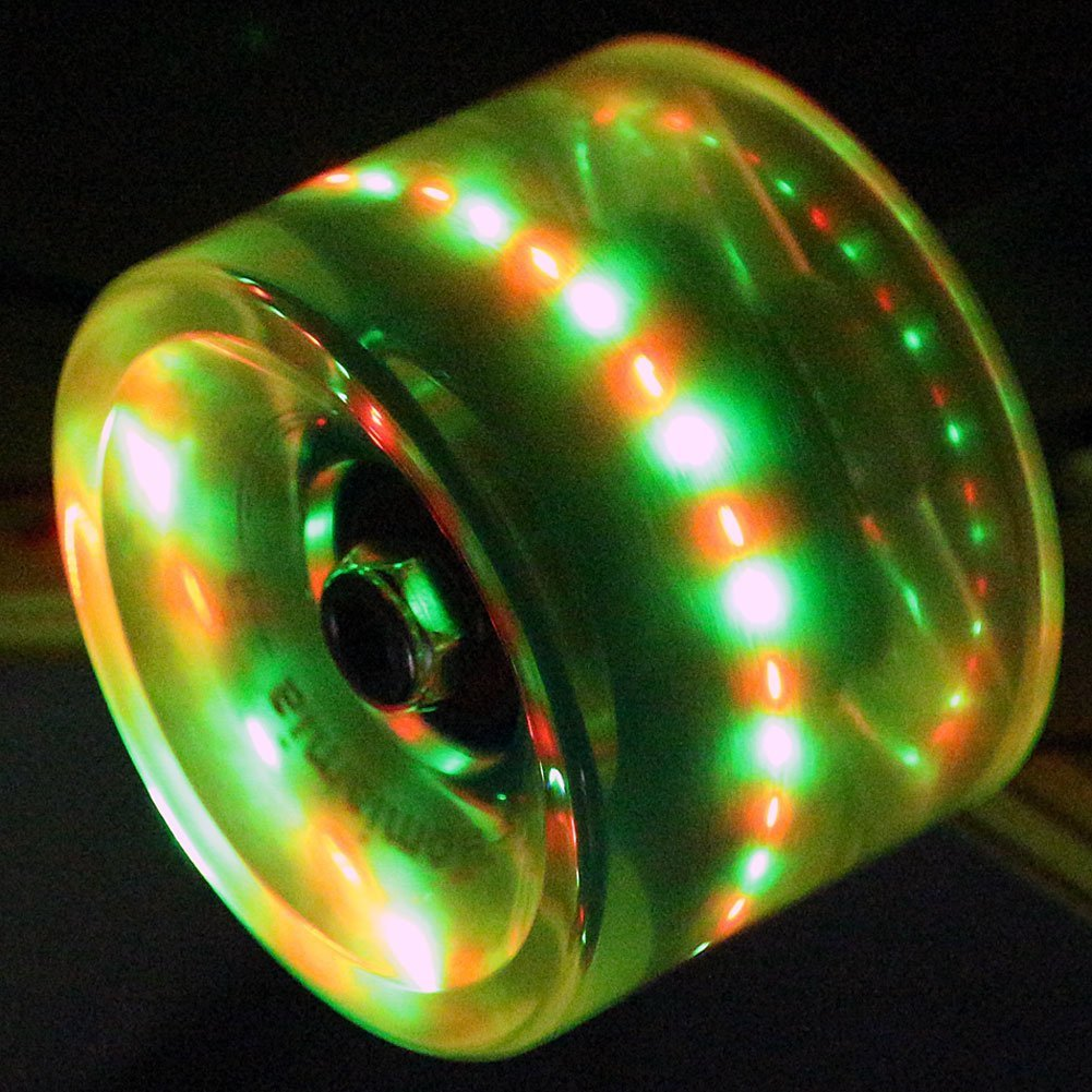 Big Wheels Longboard//Skateboard Rollen in 70x51mm 80A inkl FunTomia 4 St/ück LED Mach1/® Kugellager und Magnet Spacer 80A Rollenh/ärte