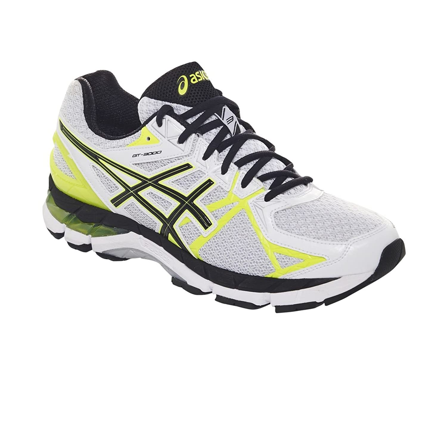 ASICS Men's Gt-3000 3 White, Black and Flash Yellow Mesh Running Shoes - 5  UK: Buy Online at Low Prices in India - Amazon.in