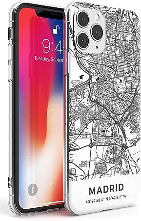 Case Warehouse Mapa de Madrid, España Slim Funda para iPhone 11 Pro TPU Protector Ligero Phone Protectora con Viaje Pasión De Viajar Europa Ciudad Calles: Amazon.es: Electrónica