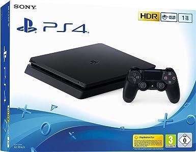 Sony PS4 Slim 1TB Negro 1000 GB Wifi - Videoconsolas (PlayStation 4, Negro, 8192 MB, GDDR5, GDDR5, AMD Jaguar): Amazon.es: Videojuegos
